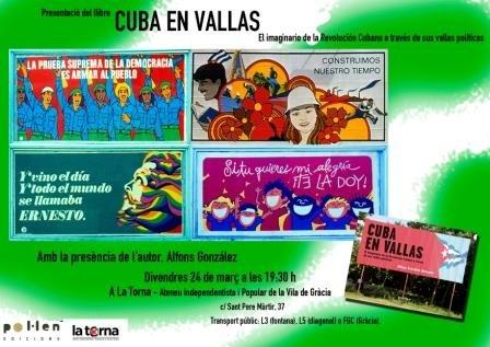 Cuba en vallas en Gràcia