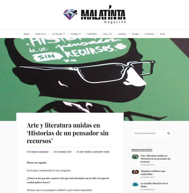 Entrevista en Malatinta Magazine
