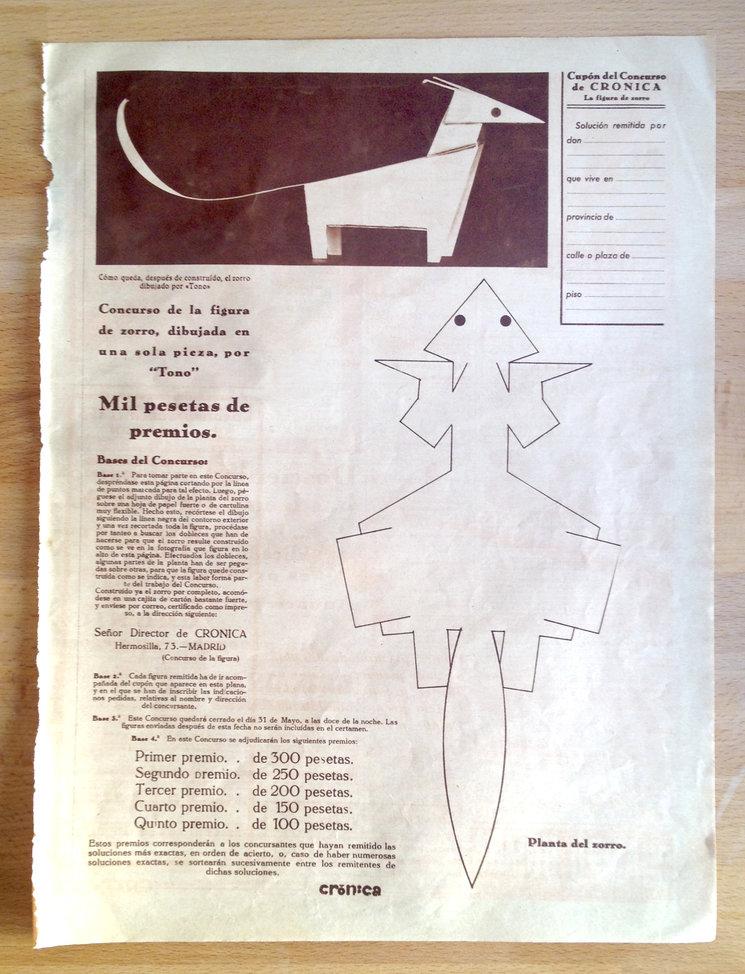 """Original de la revista Crónica de """"El arca de Noé"""""""