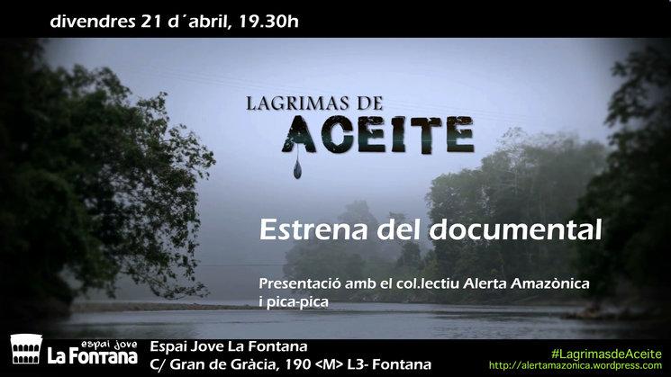 Estreno del documental #LagrimasdeAceite