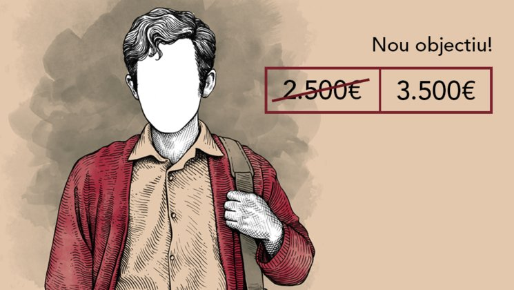 PRIMER OBJECTIU ACONSEGUIT. NOU REPTE 3500€ + LLIBRETA