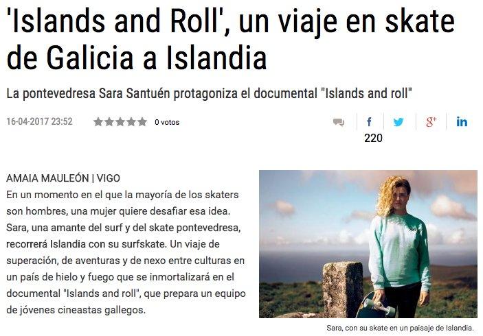 Y seguimos saliendo en prensa!!!, esta vez en El Faro de Vigo
