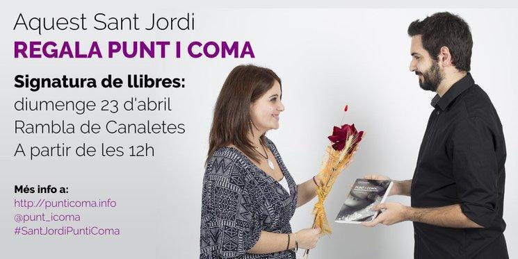 Per Sant Jordi, Punt i coma