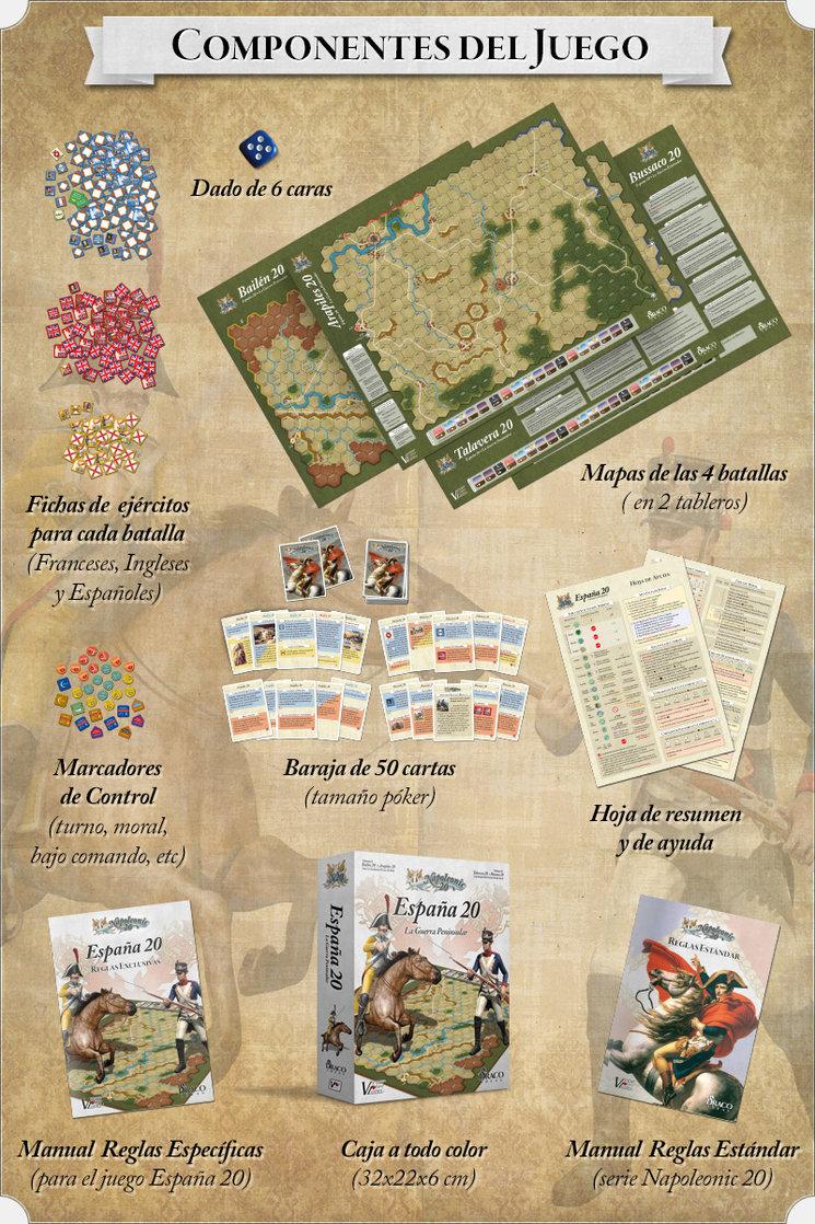 Componentes del juego España 20