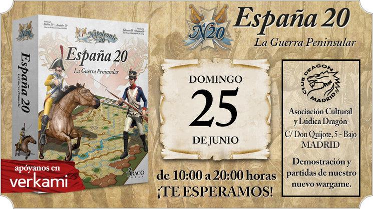 Partidas de España 20 en el club Dragón de Madrid