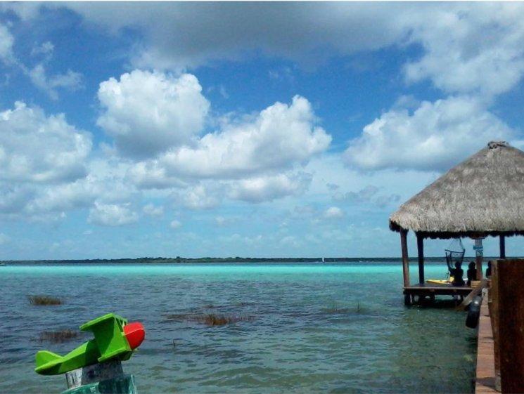 en el lago Bakalar (México)