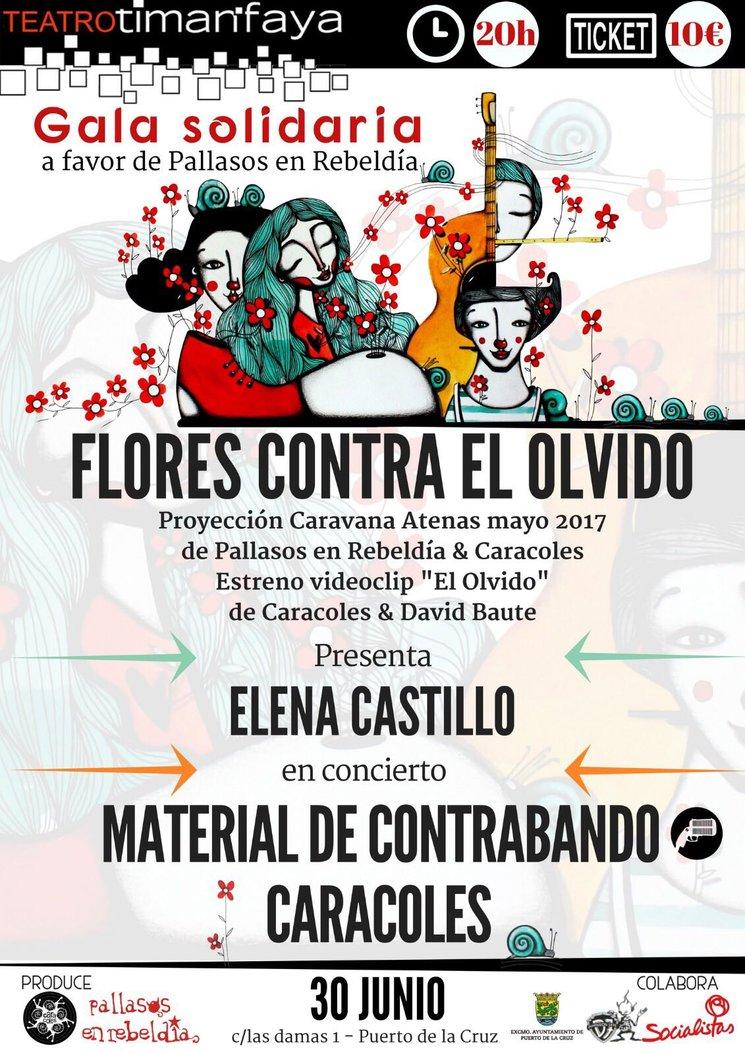 """Entrada Gala Solidaria """"Flores contra el olvido"""" el 30/06 en el teatro Timanfaya"""