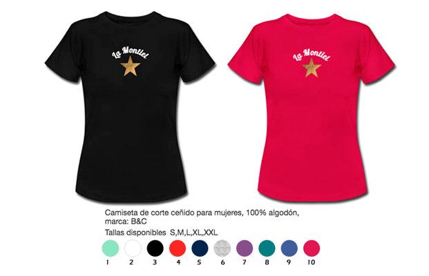 Camiseta mujer estrella dorada