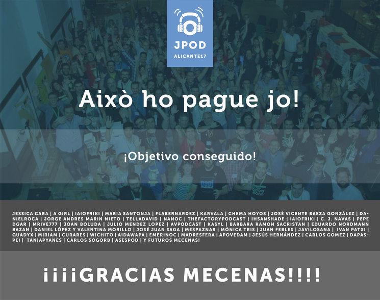 Gracias a nuestros mecenas, las JPOD con tus aportaciones, serán posibles un año más