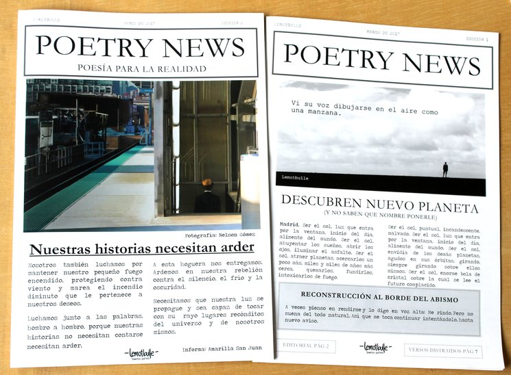 Versiones anteriores de Poetry News
