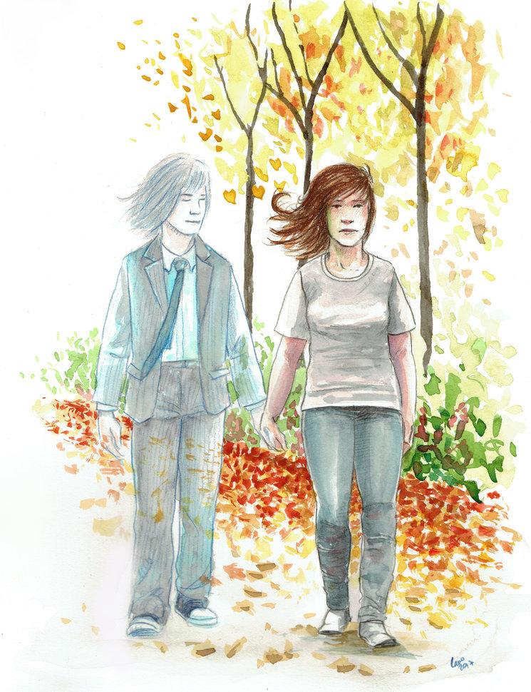 David y Ana. La muerte alejó a DAvid de Ana, pero ella no sabe que él sigue a su lado, muy a su pesar...
