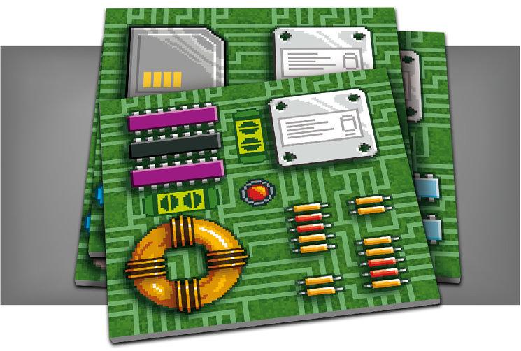 Las losetas pixeladas de Link miden más de 60mm
