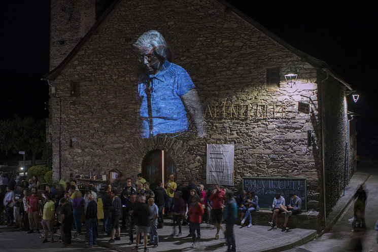 Proyección nocturna. Alins, Pallars