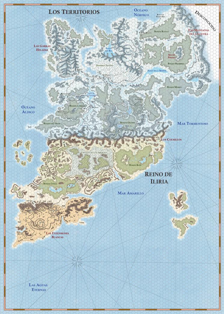 Mapa de Los Territorios y el Reino de Iliria