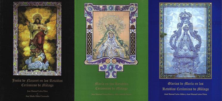Portadas de los tres libros de la colección