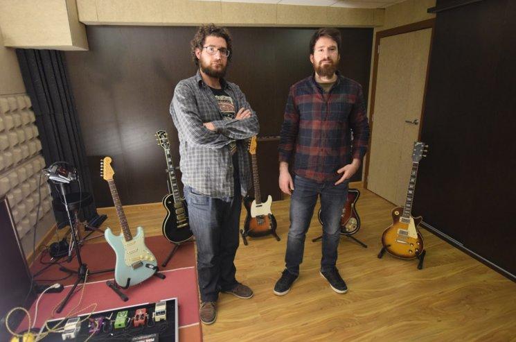 Dani Soriano y Raúl Martínez en sesiones de guitarra