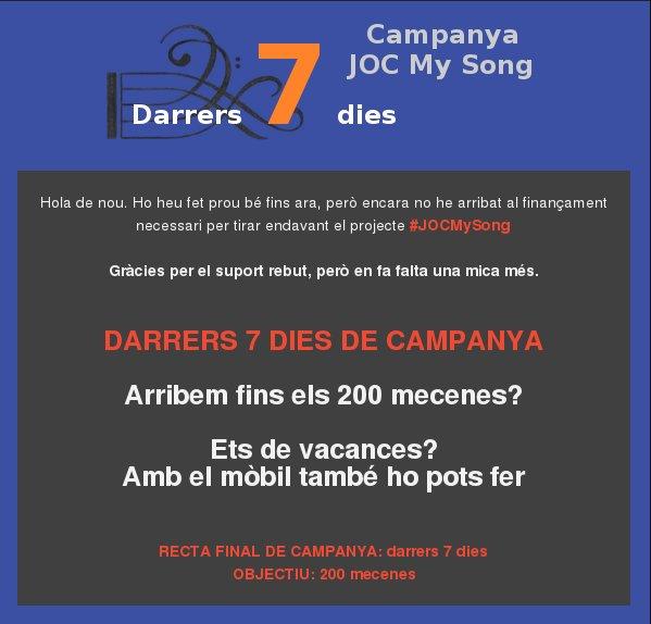 Darrers 7 dies