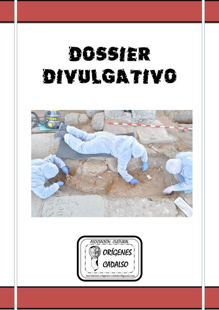 Portada del Dossier Divulgativo 2016