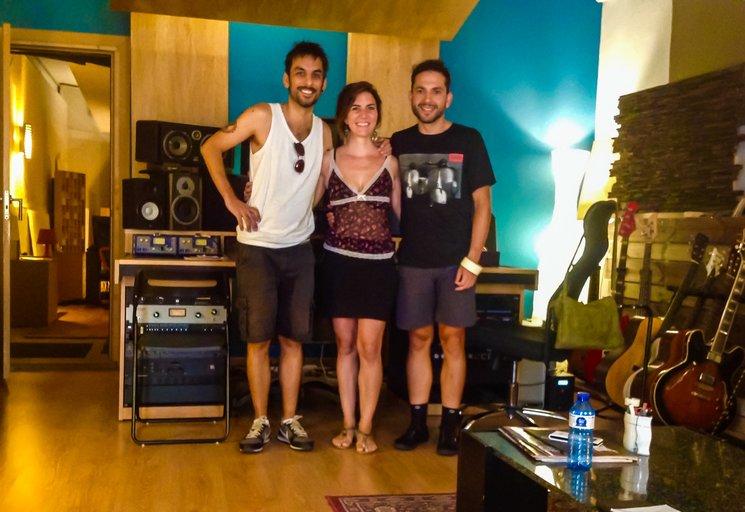 Con Kiko en los estudios Hitsmakers