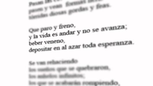 """Mínimo fragmento de """"Inventar otro Paisaje"""". Poema incluído."""