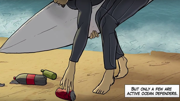 """""""Each time you go surfing collect something from the beach"""""""