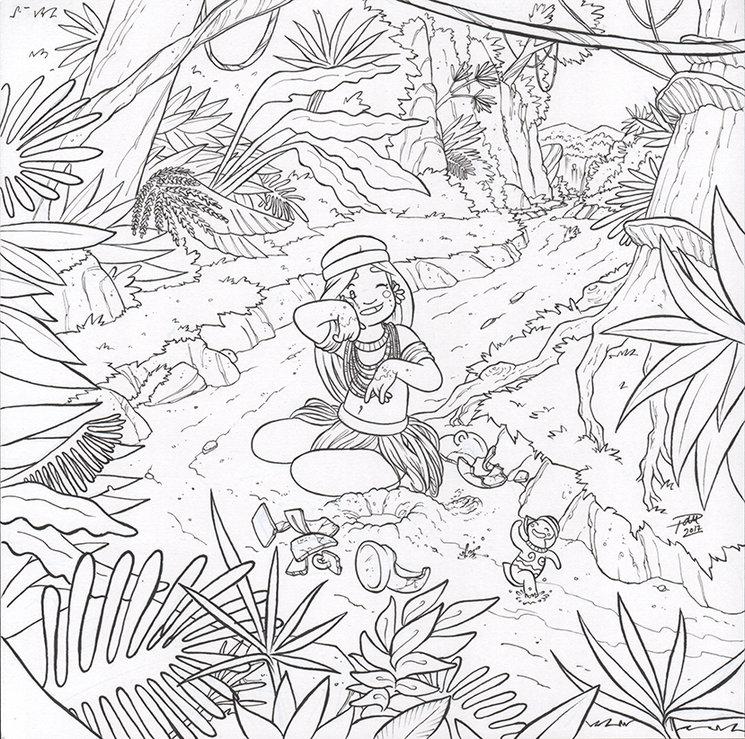 Nuestra protagonista en la selva