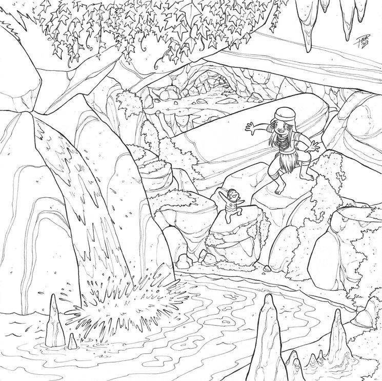 Fuente oculta en una cueva