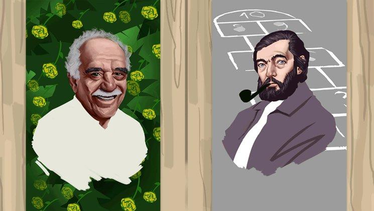 Gabriel García Márquez y Julio Cortázar