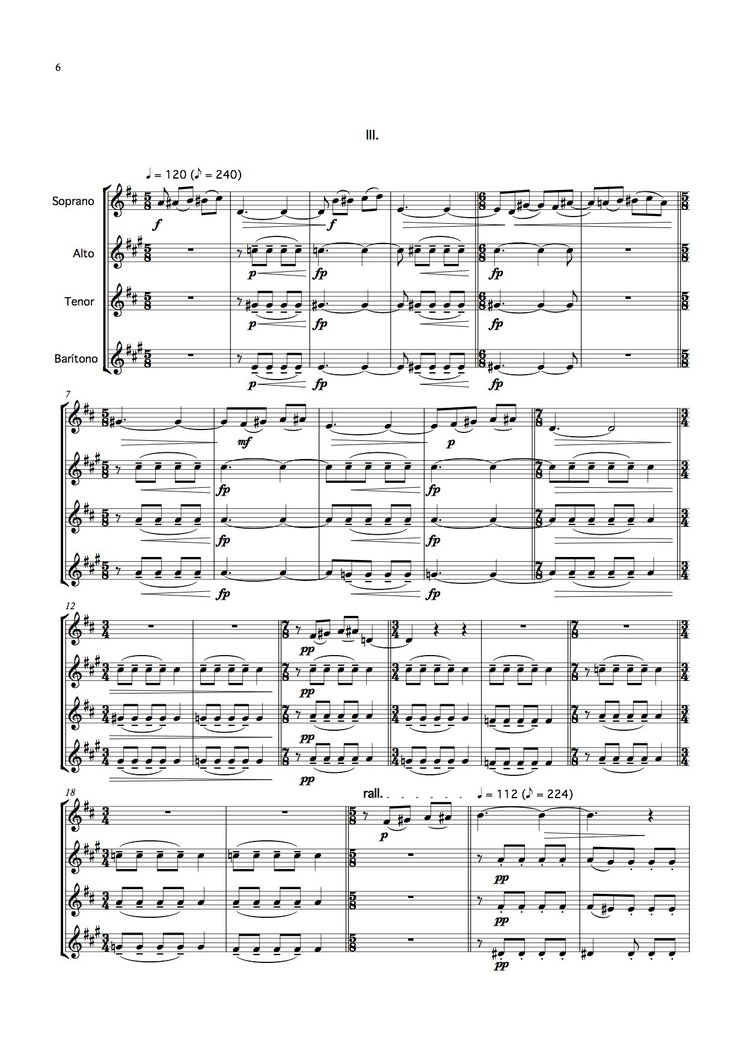 Score Tríptico. III mov.