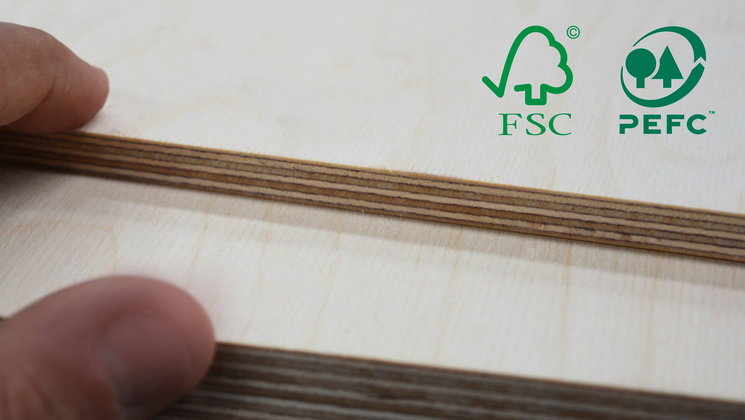 WISA TM plywood with FSC and PEFC certificates