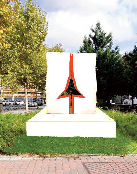 Imagen virtual del monumento en Vicalvaro