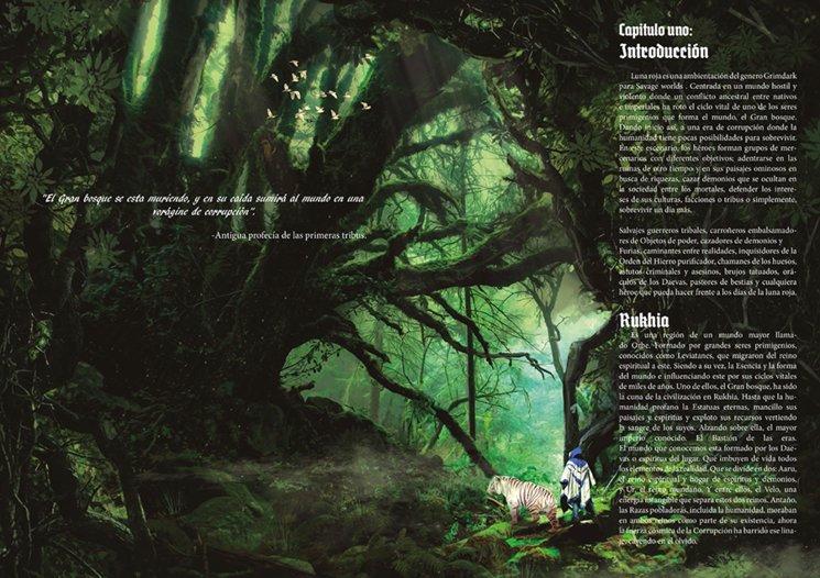 Prueba de maquetación. El libro contendrá numeroso una gran carga de impresionantes ilustraciones a doble página.
