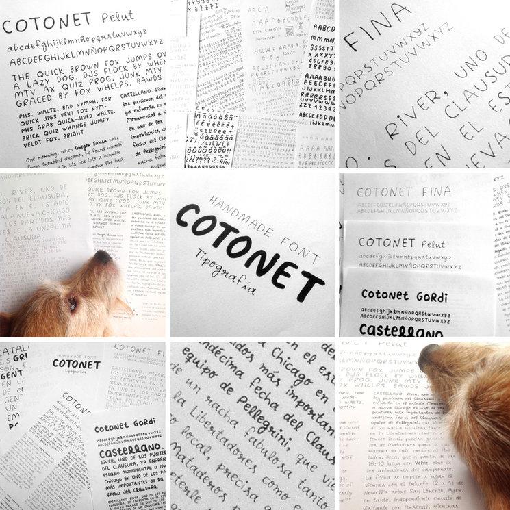 La tipografía Cotonet fue diseñada por nosotros especialmente para el libro