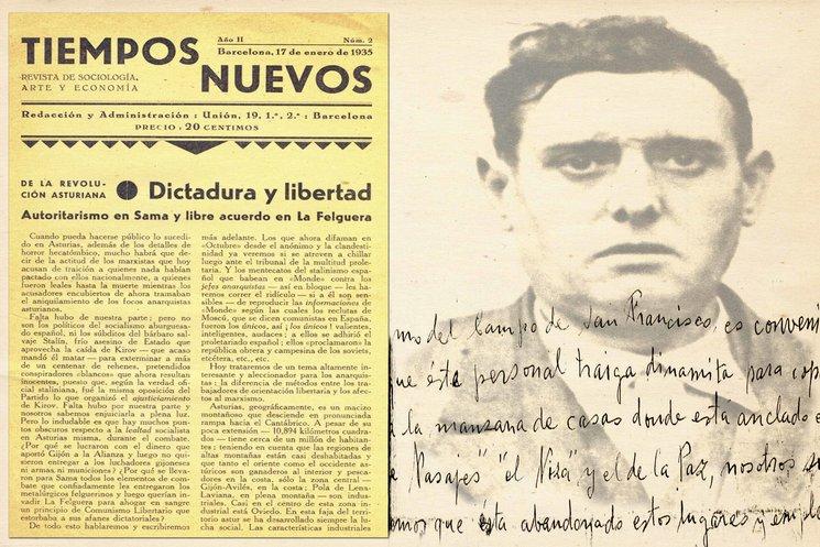 Dinamita para el parque San Francisco ( Oviedo). Rostro de Ramón González Peña. Revista Tiempos Nuevos.