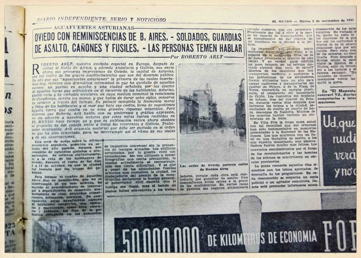 Aguafuertes asturianas escritas desde Oviedo por Roberto Artl.
