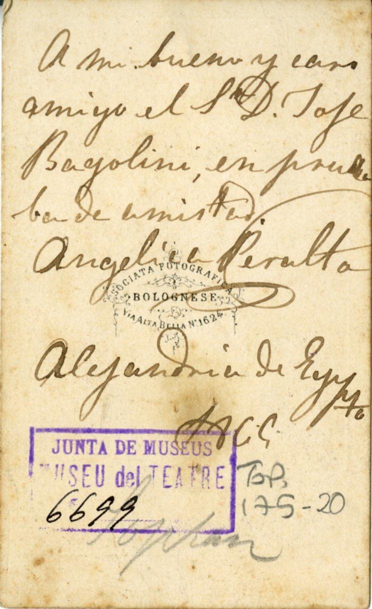 Autógrafo de Ángela Peralta