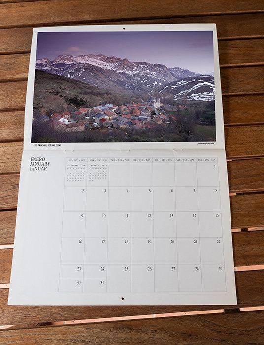 Y aspecto del calendario abierto