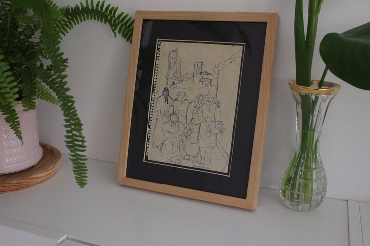 "Pack ""Estampitas milagrosas"", dibujo original de Ocaña."