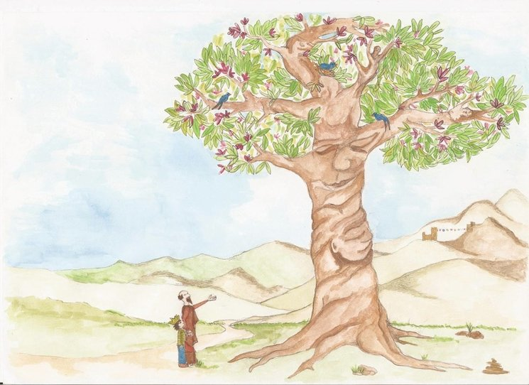 """This tree is more than just a tree, if you learn to see with different eyes..."""