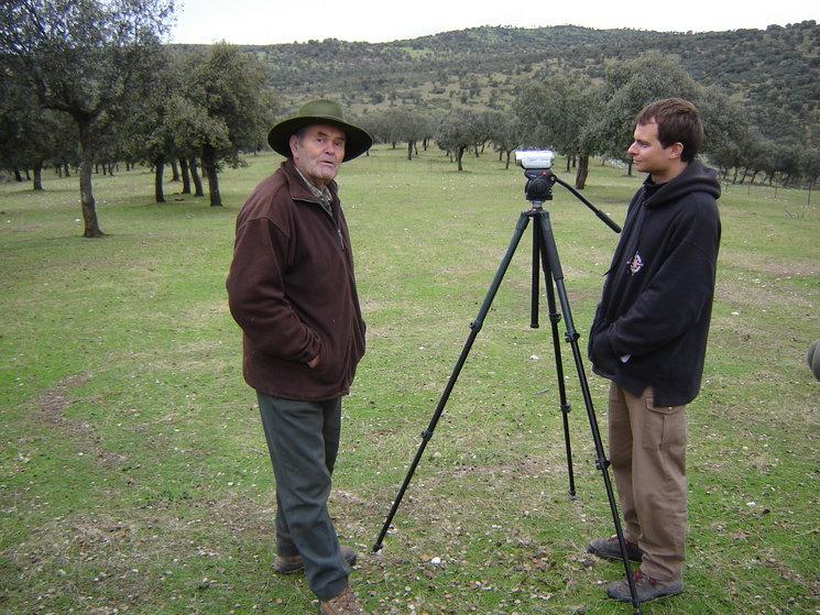 Leocadio junto a Fran Contreras Parody durante el rodaje del documental