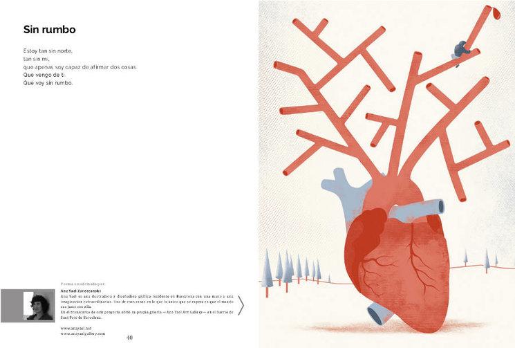 Maqueta de una de las páginas del libro
