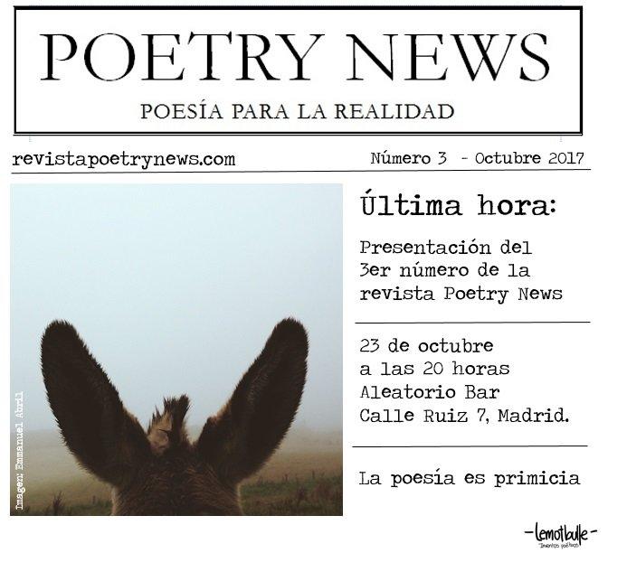Invitación presentación Poetry News