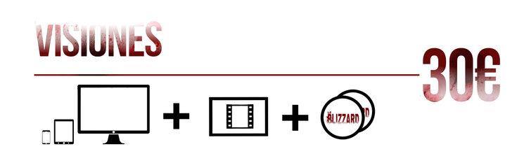 Aparición en los títulos de crédito + PACK DIGITAL  + 1 Fotograma único y exclusivo enmarcado (distintos cada uno) + Stickers