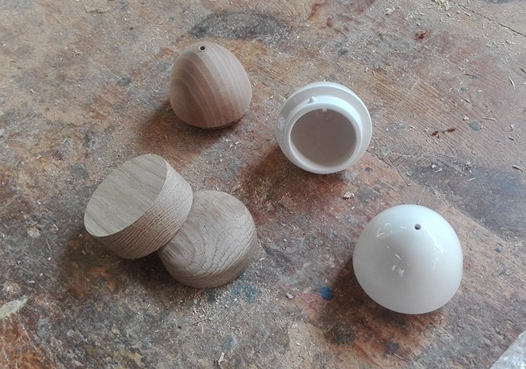 Wooden and clay parts prototyping
