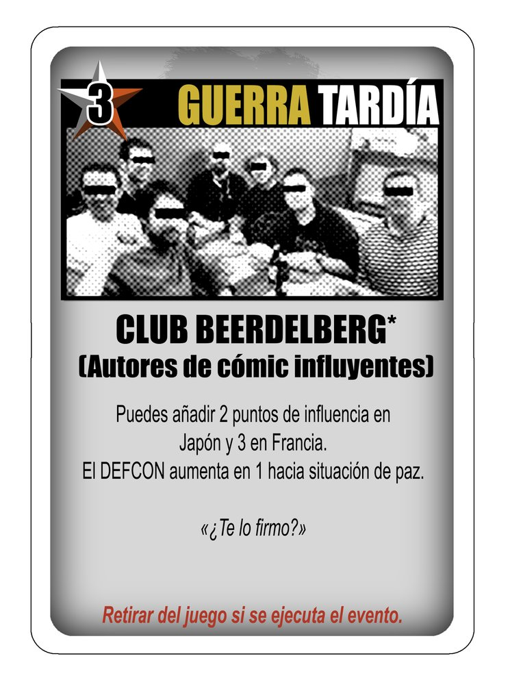 "La carta del ""Club Beerdelberg"" para Twilight Struggle."