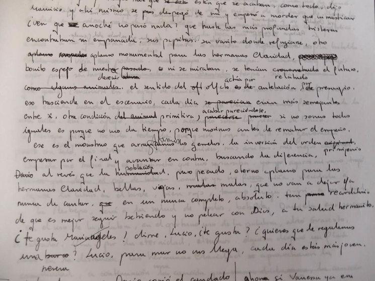 Manuscrito de El París