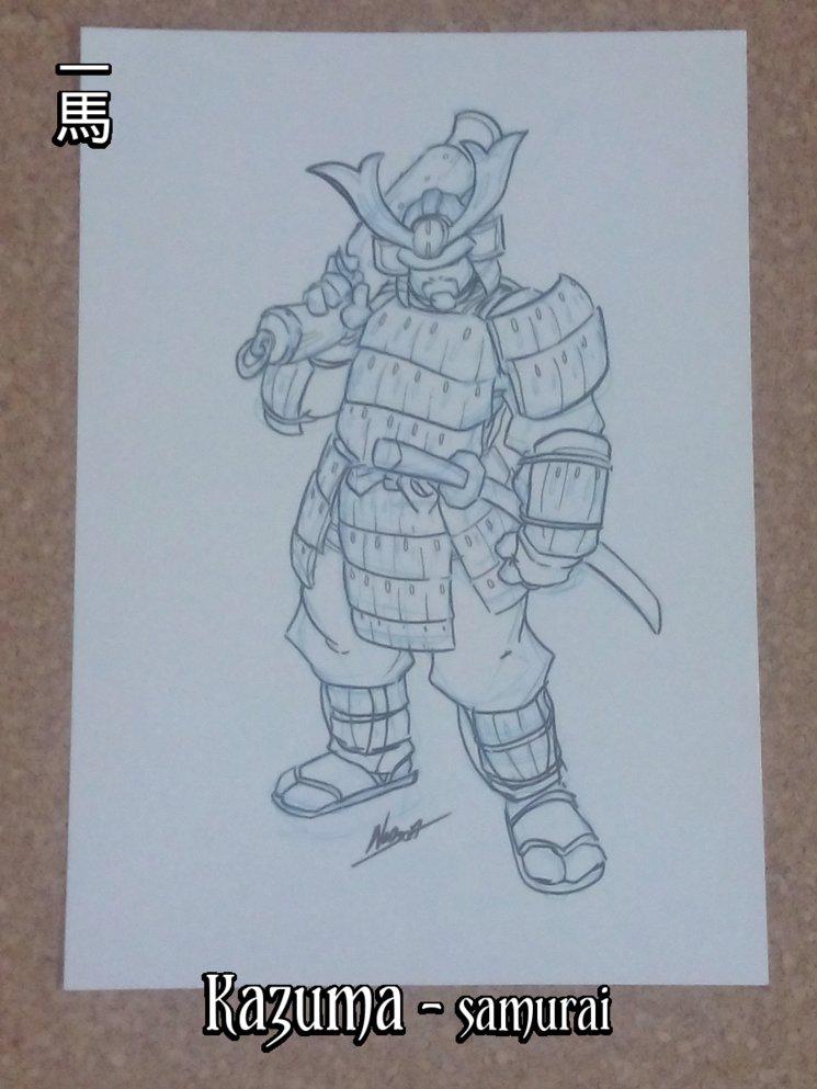 Kazuma, un samurai al servicio de su clan: este guerrero colosal no solo destaca por su fiereza, sino por su habilidad con el temible cañón de mano Ô-Zutsu.