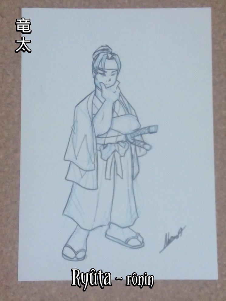 Ryûta, un rônin del Shinsengumi: fuerte y salvaje como un lobo, pero también justo y honorable.