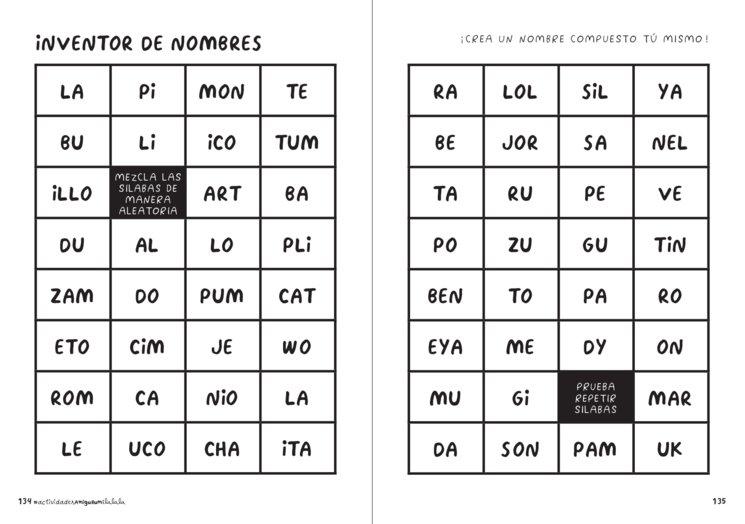 INVENTOR DE NOMBRES — Cuaderno de actividades amigurumi