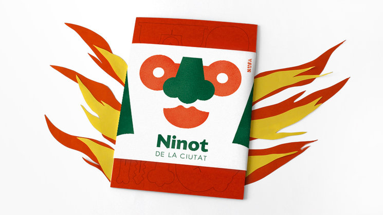 Packaging del Ninot en llamas